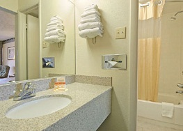 HOTEL BATHROOM - Nathan Allen, The Maniac of Magic - Comedian Magician Entertainer Entertainment - Des Moines, Iowa