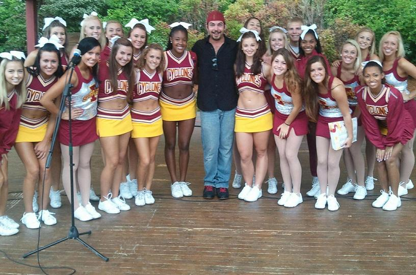 IOWA STATE CYCLONES CHEERLEADERS – Nathan Allen, The Maniac of Magic – Comedian Magician Entertainer Entertainment – Des Moines, Iowa