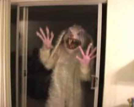 SCARY RABBIT AT DOOR Nathan Allen The Maniac of Magic Comedian Magician Entertainer Entertainment Des Moines Iowa