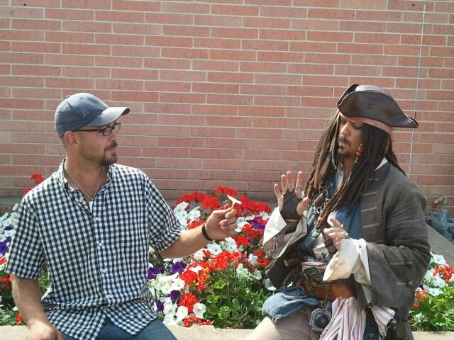 CAPTAIN JACK SPARROW Nathan Allen The Maniac of Magic Comedian Magician Entertainer Entertainment Des Moines Iowa