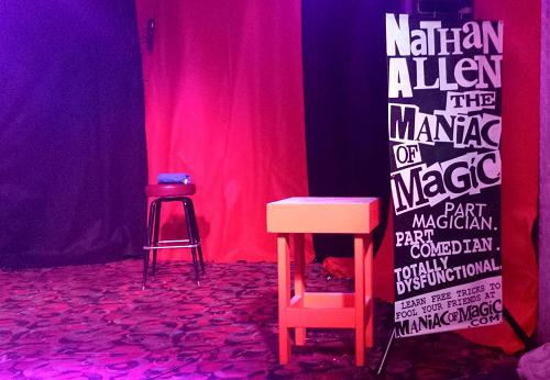 GALLAGHER SLEDGE O MATIC TABLE Nathan Allen The Maniac of Magic Iowa Comedian Iowa Magician Iowa Entertainer Iowa Entertainment