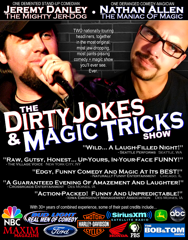 poster - The Dirty Jokes & Magic Tricks Show
