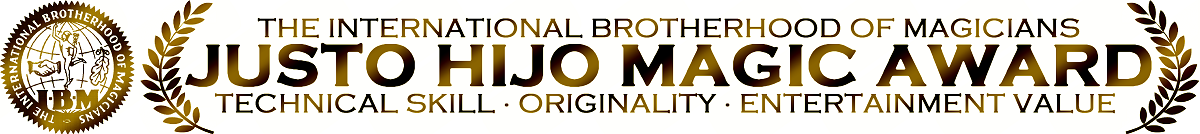 International Brotherhood Of Magicians #167 Justo Hijo Magic Award